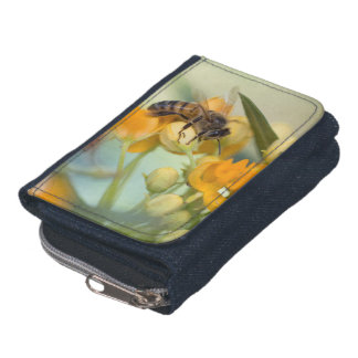 Honey Bee & Flowers Fashion Wallet