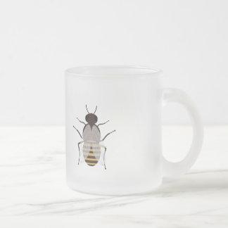 Honey bee frosted glass coffee mug