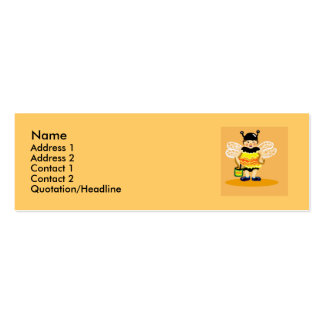 Honey bee happy Double-Sided mini business cards (Pack of 20)