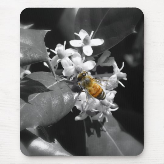Honey Bee & Holly Mouse Mat