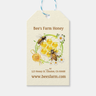 Honey Bee Honey Seller Beekeeper Apiarist Gift Tags