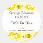 Honey Bee Honeycomb Art Custom Jar Sticker