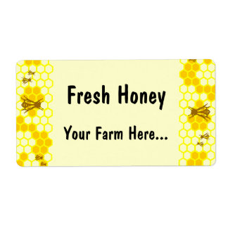 Honey Bee Honeycomb Custom Labels