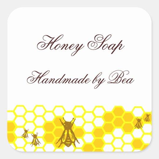 Honey bee honeycomb custom soap label stickers for Zazzle custom t shirts