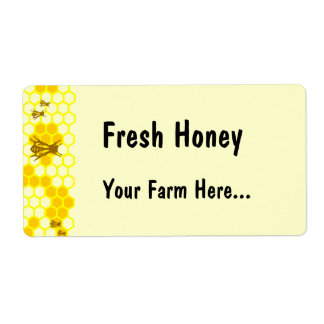 Honey Bee Honeycomb Custom Tag or Address Label