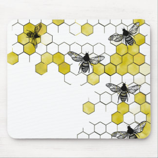 Honey Bee Honeycomb Mouse Pad