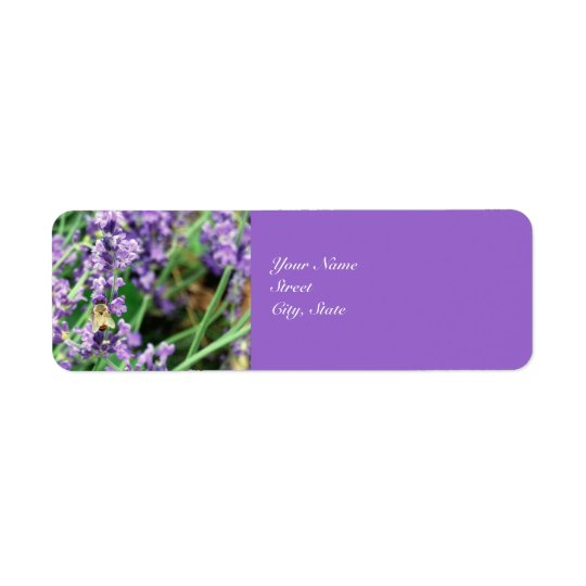 Honey Bee & Lavender address label