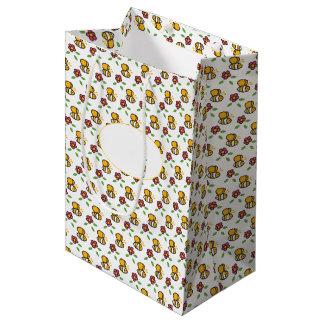 Honey Bee Light Pattern Medium Gift Bag
