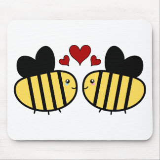 Honey Bee Love Mouse Pad