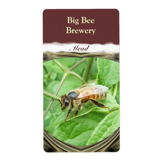 Honey Bee ~ Mead Wine Label Shipping Label