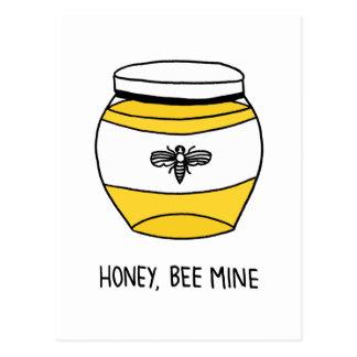 Honey, Bee Mine Postcard