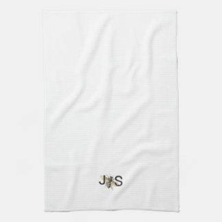 Honey Bee Monogrammed Kitchen Towel