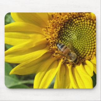 Honey bee of Yellow Sunflower Mouse Mat