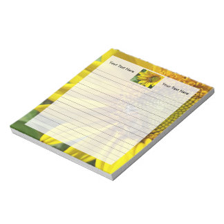 Honey bee of Yellow Sunflower Notepad