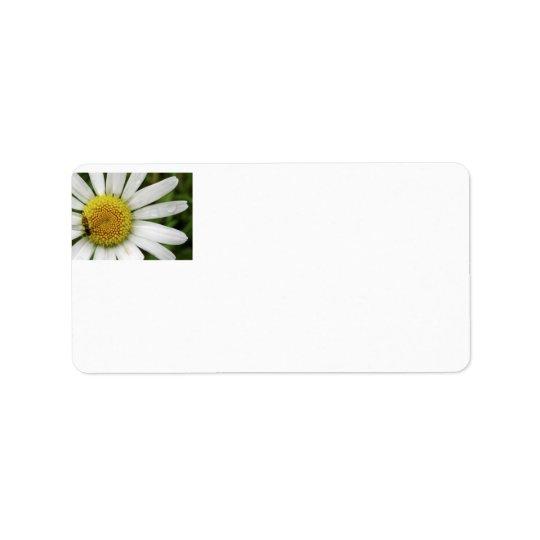Honey Bee on a Daisy Address Label