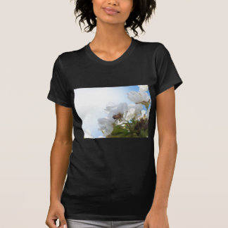 Honey Bee on Cherry Blossoms Tee Shirts