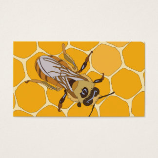 Honey Bee on Honeycomb Business Card