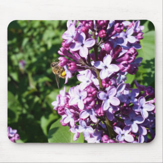 Honey Bee On Spring Lilacs Mouse Pad