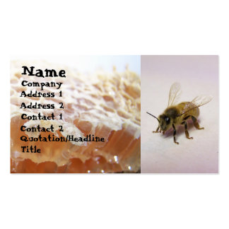 Honey bee pack of standard business cards