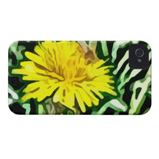 honey bee pollinating yellow flower painting iPhone 4 Case-Mate cases
