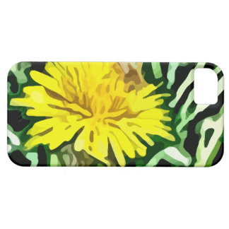 honey bee pollinating yellow flower painting iPhone 5 cover