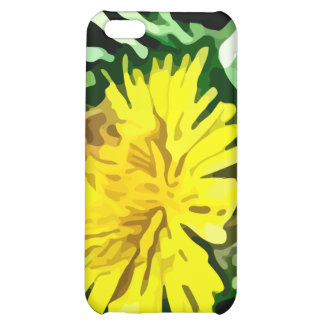 honey bee pollinating yellow flower painting case for iPhone 5C