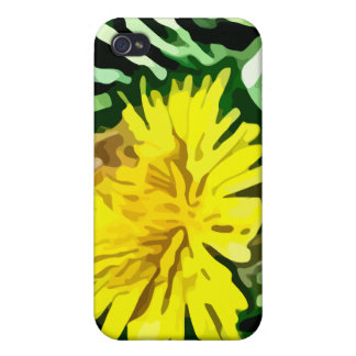 honey bee pollinating yellow flower painting case for iPhone 4