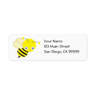 Honey Bee Return Address Label