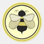 Honey Bee Round Stickers