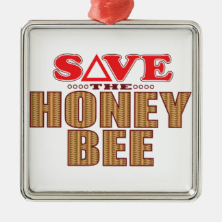Honey Bee Save Christmas Ornament
