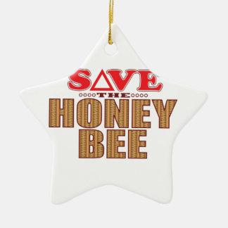 Honey Bee Save Christmas Ornament