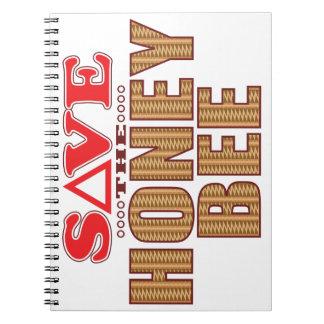 Honey Bee Save Spiral Notebook