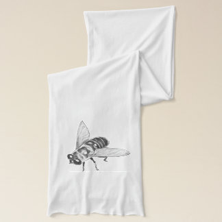Honey Bee Scarf Custom Bee Gifts Insect Art Scarf