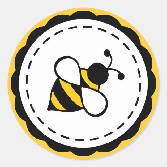 Honey Bee School Business Party Stickers