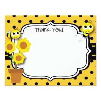Honey Bee Thank You Card 11 Cm X 14 Cm Invitation Card