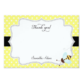 Honey Bee Thank You Card Polkadot 9 Cm X 13 Cm Invitation Card