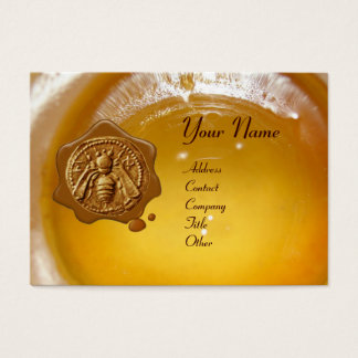 HONEY BEE WAX SEAL ,BEEKEEPER APIARIST BUSINESS CARD