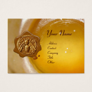 HONEY BEE WAX SEAL ,BEEKEEPER /beekeeping supplies Business Card