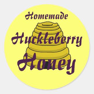 Honey Beehive Homemade Honey Canning label Round Sticker