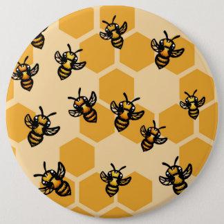 Honey Bees 6 Cm Round Badge