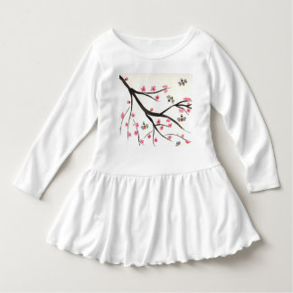 Honey Bees and Cherry Blossoms Toddler Dress