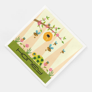 Honey Bees And Turtle Paper Napkins