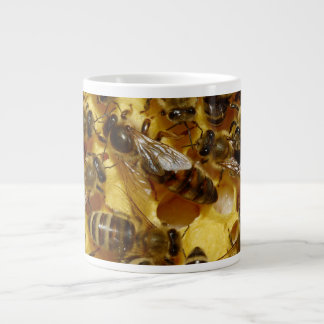Honey Bees in Hive with Queen in Middle Large Coffee Mug