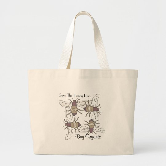 Honey Bees Large Tote Bag
