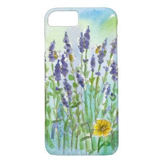 Honey Bees Lavender Wildflower Watercolor iPhone 7 Case