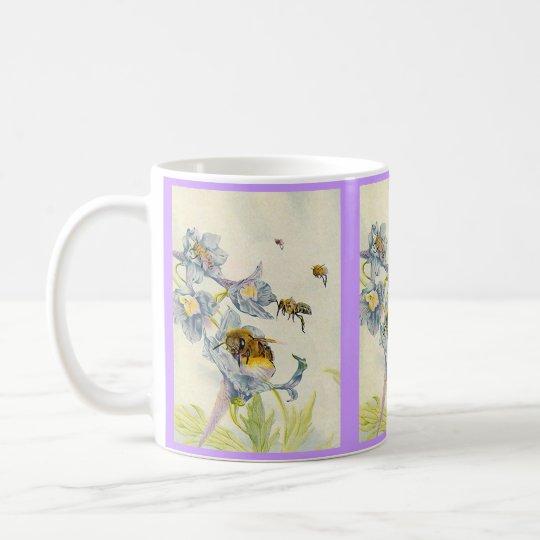 Honey Bees & Morning Glory Flowers EZ2 Customise