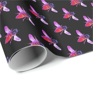 Honey Bee's - pink Wrapping Paper