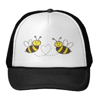 Honey Bees with Heart Cap