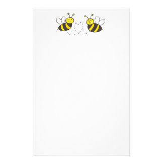 Honey Bees with Heart Stationery
