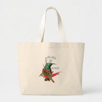 Honey Bird Large Tote Bag